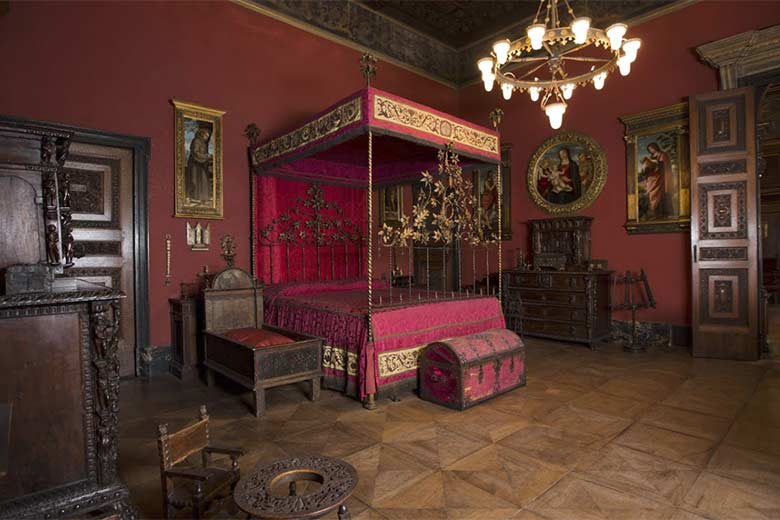The red room at the Bagatti Valsecchi House Museum