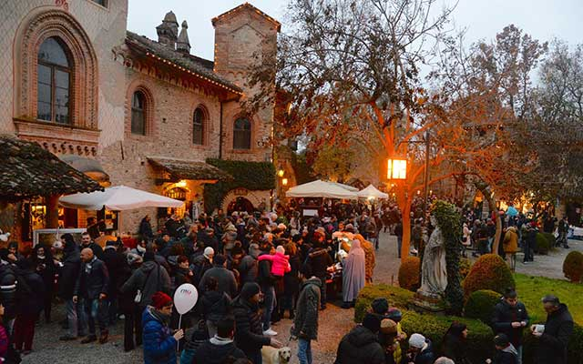 Christmas market at Grazzano Visconti