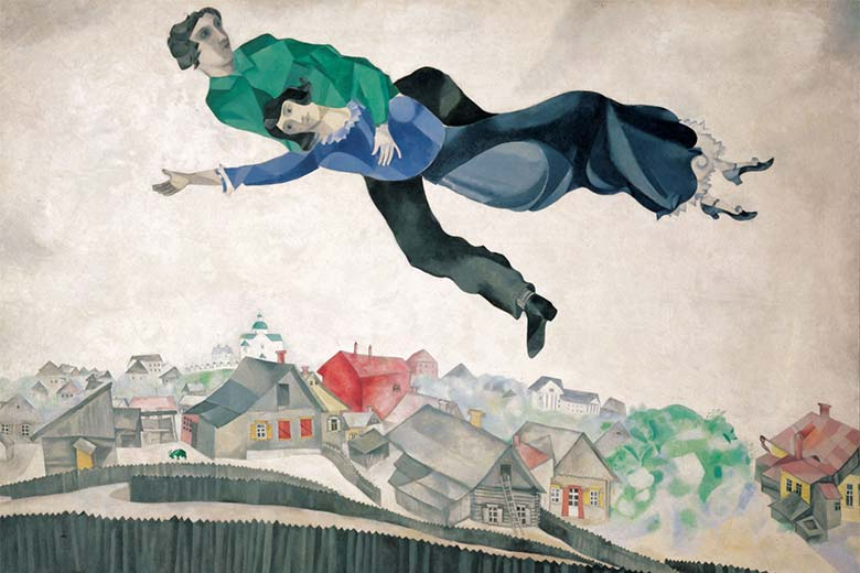 Over the Town © Chagall ®, by SIAE 2018