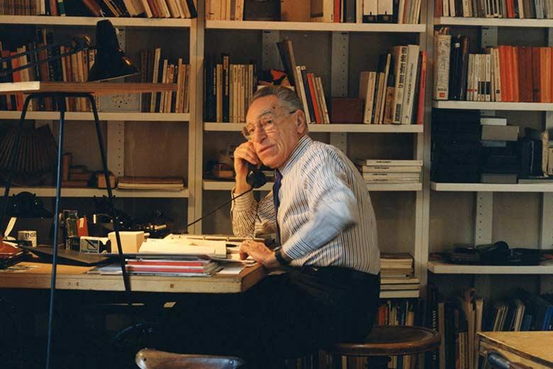 Castiglioni in his studio in 1995. Photo by G. Widmer