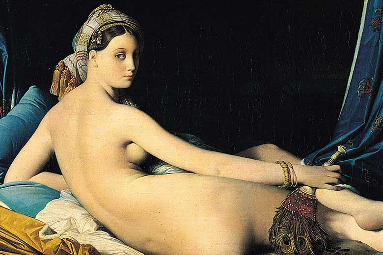 A detail of 'La Grande Odalisque' by Ingres (Louvre)