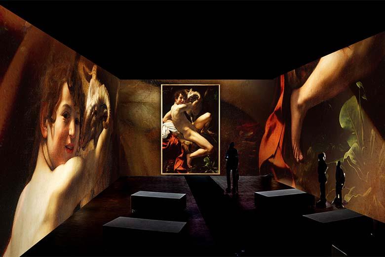 A rendering of the Exhibition Caravaggio Oltre la Tela