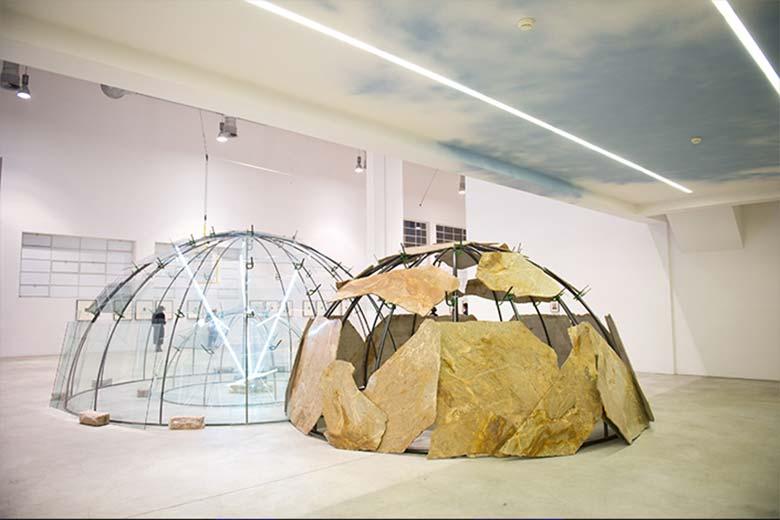 Mario Merz Spostamenti, 2003 Veduta dell'installazione, Fondazione Merz, Torino, 2011. Courtesy Fondazione Merz.
