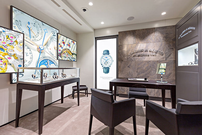 The new boutique by A. Lange & Söhne © Antinori