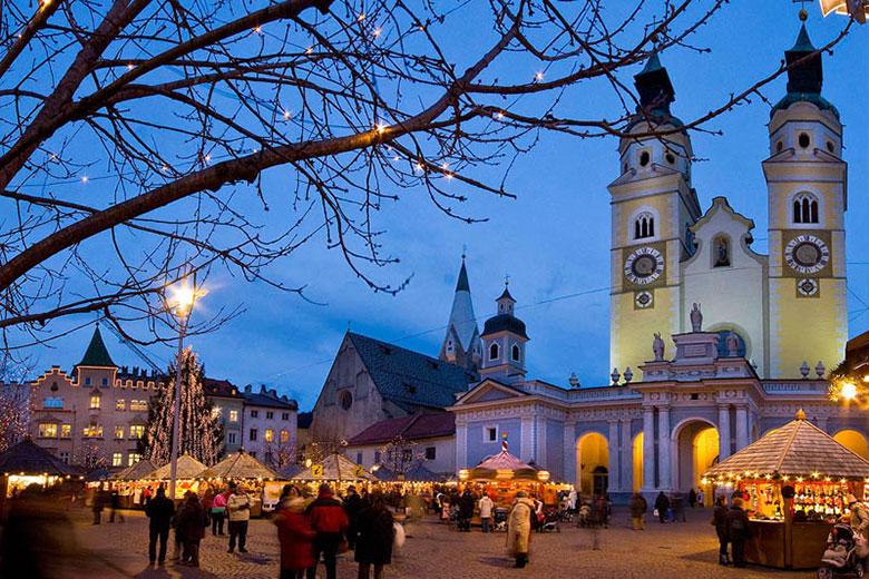 The Christmas market in Bressanone, near Bolzano