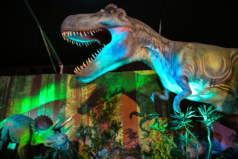 A scene from the Dinosaur Invasion exhibition