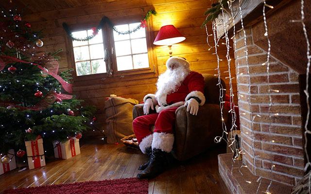Santa's House at the Darsena Christmas Village