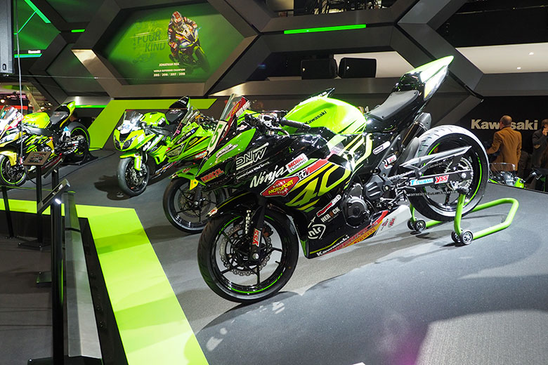 The stand by Kawasaki
