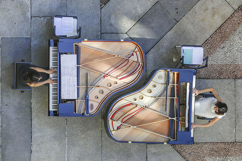 One of the previous editions of Piano City Milano at Palazzo Intesa Sanpaolo (C) Marco Pieri