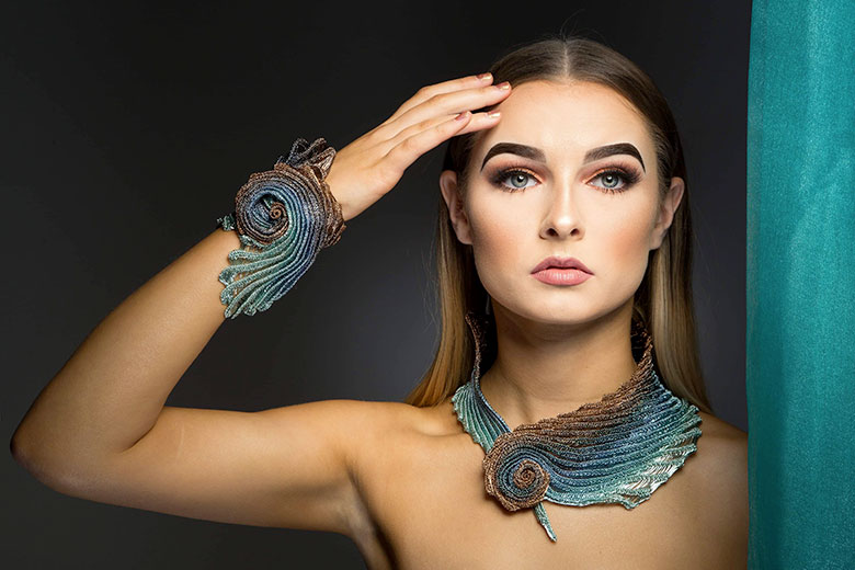 Artistar Jewels 2019, Necklace and bracelet by Rachel Reilly