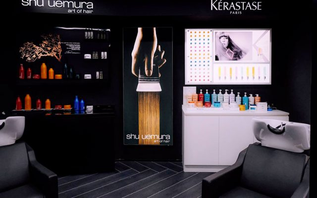 The spaces inside Class Hair Style Bar at Sephora Flagship Store