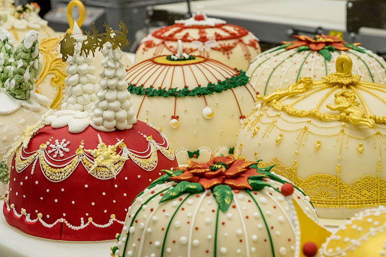 A decorated panettone by Marchesi 1824