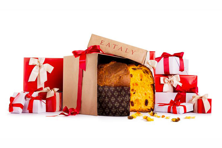 An Italian traditional panettone at Eataly