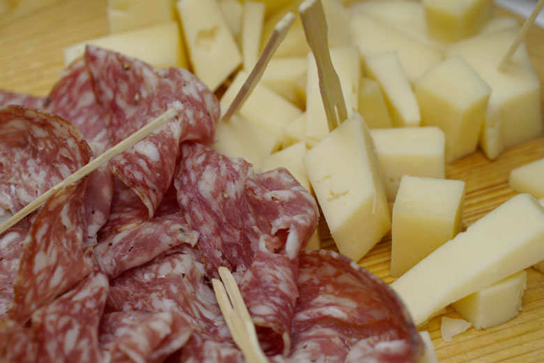Typical cheese and cold cuts from Verona