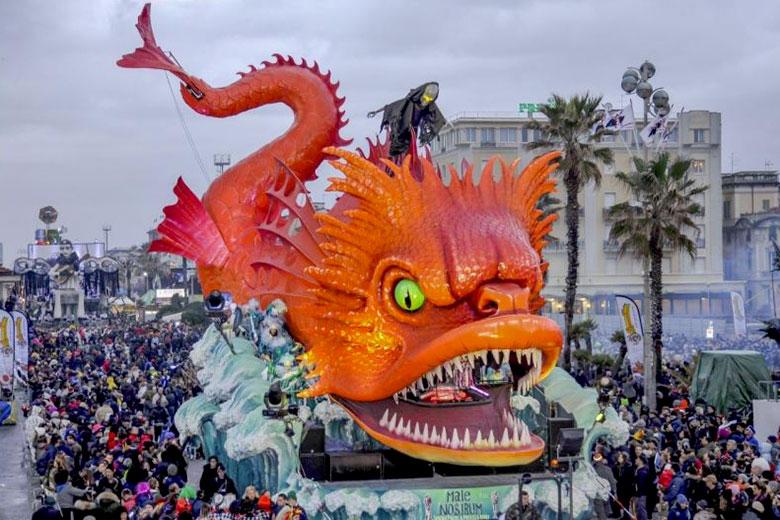 A parade during the Carnival in Viareggio