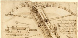The sketch of a projects of the Codex Atlanticus
