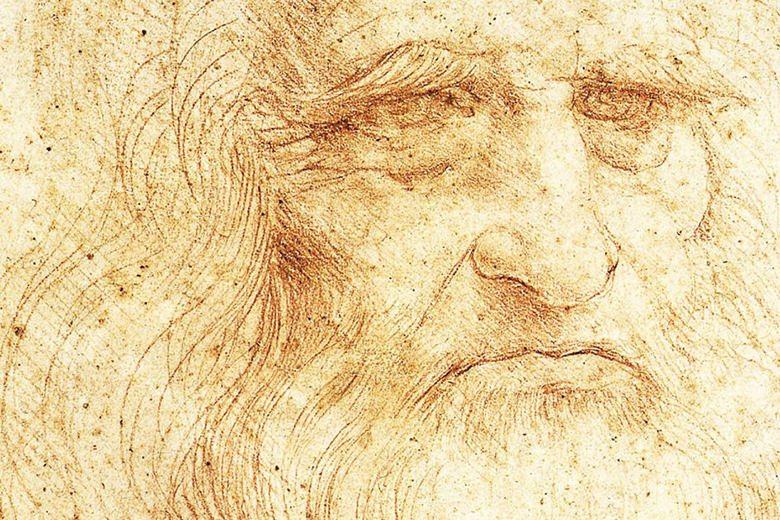 A portrait of Leonardo da Vinci