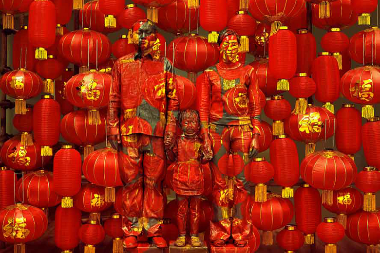 Liu Bolin, Family Photo