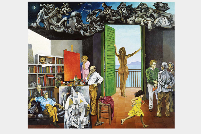 Spes contra Spem, 1982. Oil on canvas cm 300 x 350. Copyright (C) Fondazione Francesco Pellin