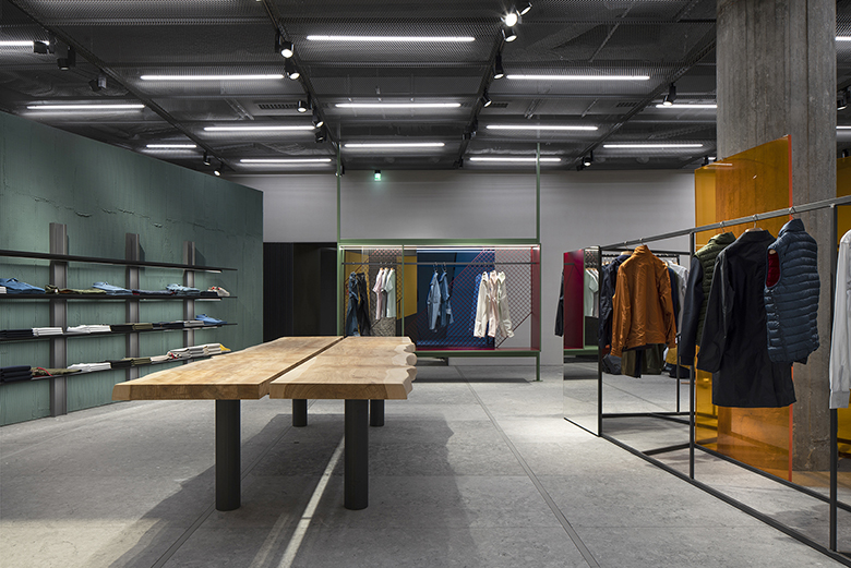 Inside the Aspesi Flagship Store