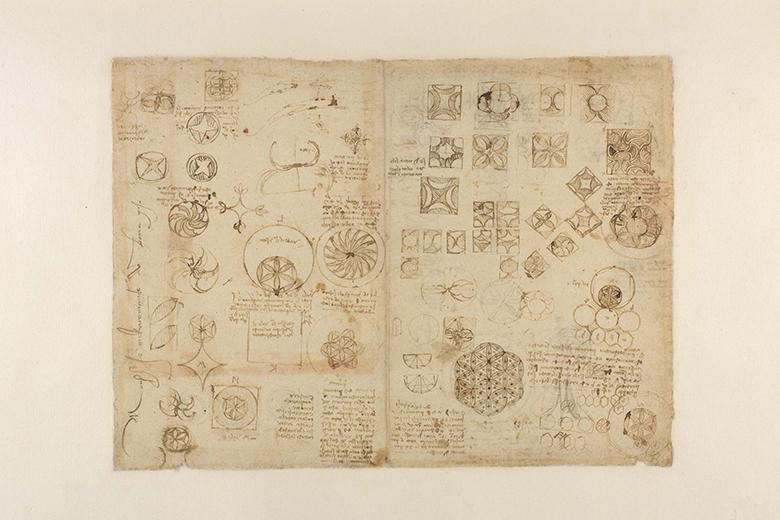 Leonardo da Vinci (1452-1519), Codice Atlantico (Codex Atlanticus), sheet 482 recto. (C) Veneranda Pinacoteca Ambrosiana / Mondadori Portfolio