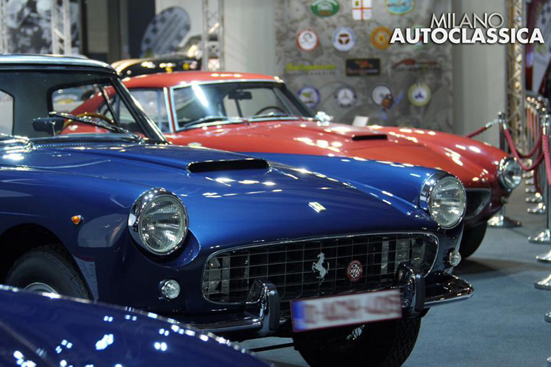 A shot of historic Ferrari cars from the previous editions of Milano AutoClassica