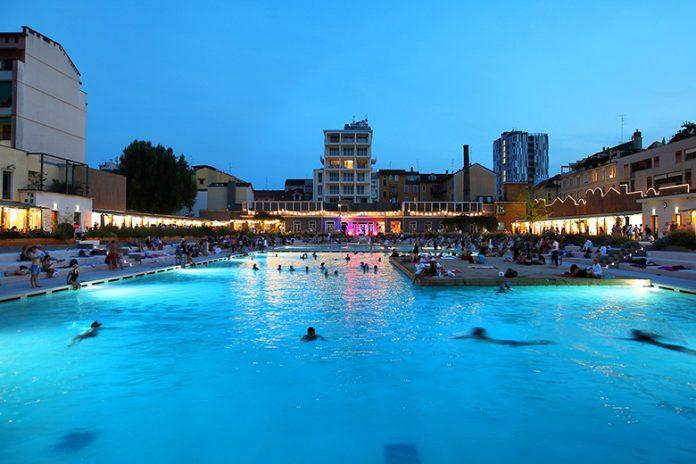 The open-air swimming pool at Bagni Misteriosi