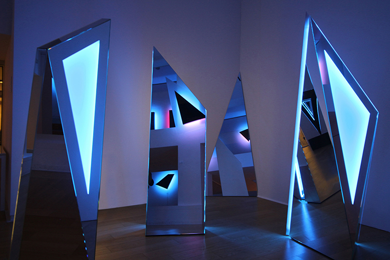 Mostra Sky tracks, Trigger of the Space, installation by Marco Poma