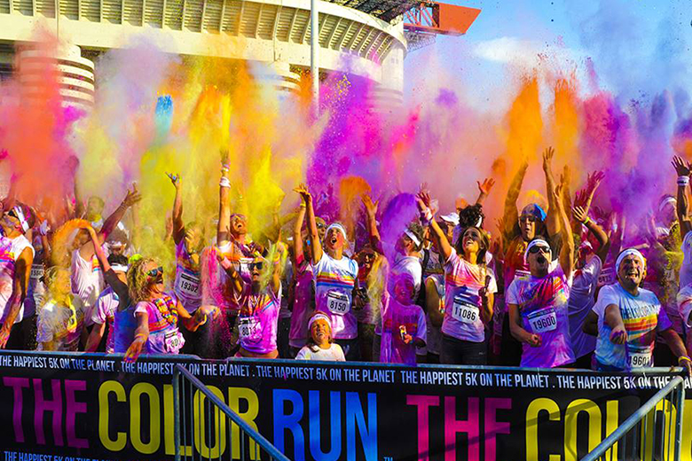 One of the previous editions of the Color Run in Milan