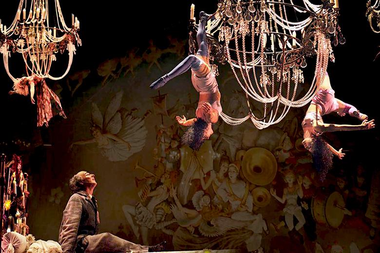 A scene from Corteo, by Cirque du Soleil