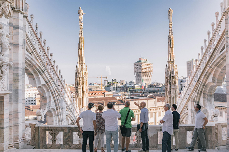 The view from the Duomo terraces, photo credits © Veneranda Fabbrica del Duomo