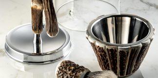 A precious horn shaving kit by Lorenzi Milano