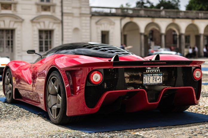 A Ferrari supercar at-Milano-Monza Motor Show