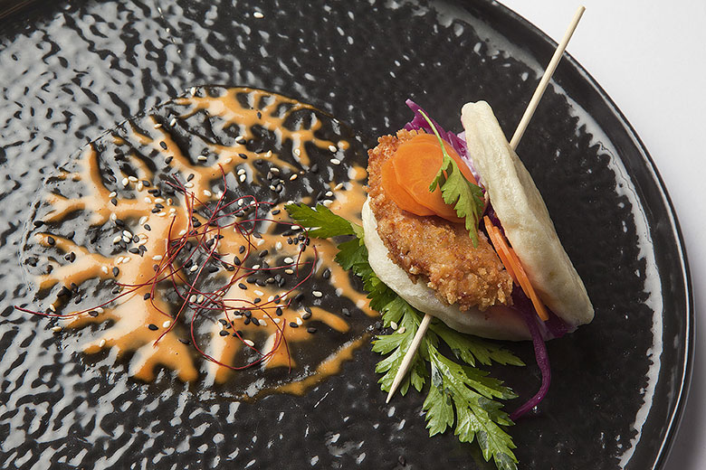 Crispy eggplant Bao with Malaysian sauce, photo credits (c) Spica and Nathalie Krag