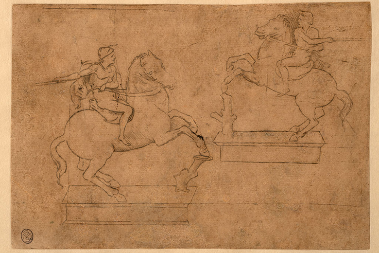 Studies for the equestrian monument to Francesco Sforza (c) Castello Sforzesco