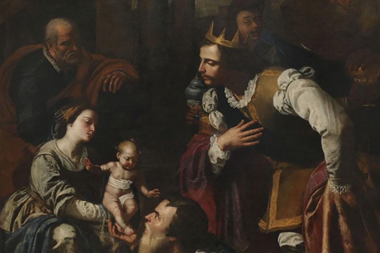 Adorazione dei Magi (Adoration of the Three Wise Men), 1636-1637, oil on canvas, 310 x 206 cm, Cattedrale di Pozzuoli