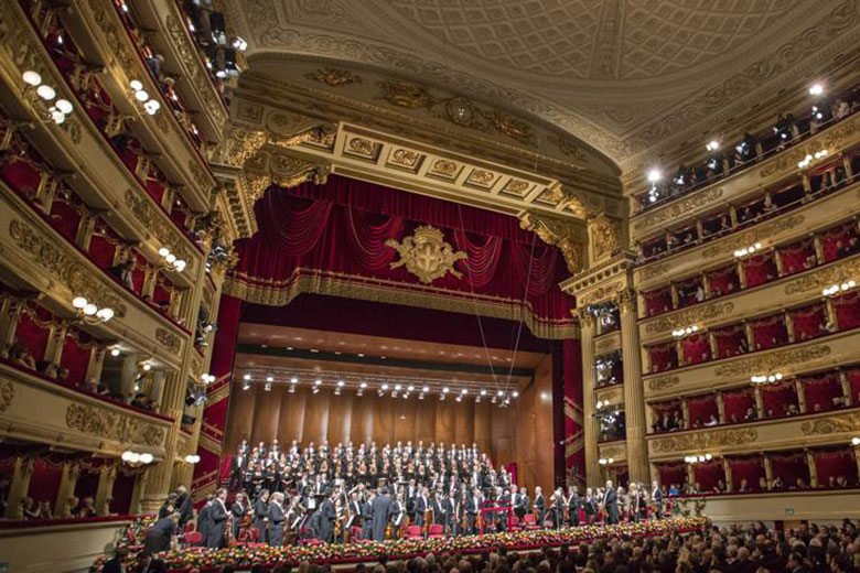 Christmas concert at Teatro alla Scala, photo credits (c) Marco Brescia and Rudy Amisano