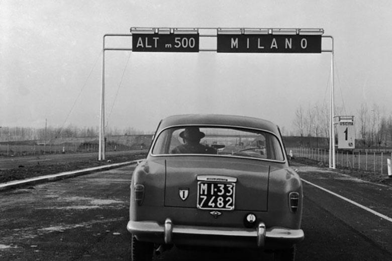 Fedele Toscani, Autostrada del Sole in costruzione, 1958