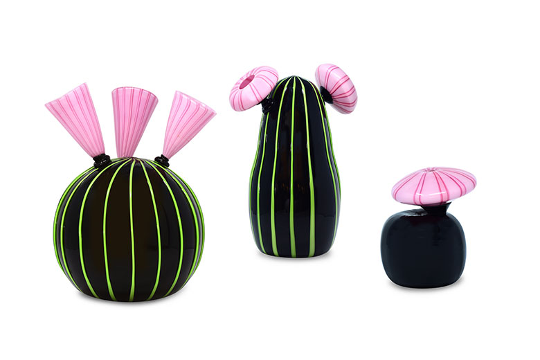 "Limited edition ""The Desert"" vases by Venini"