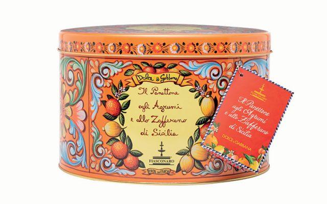 Sicilian citrus fruit and saffron panettone by Fiasconaro for Dolce&Gabbana