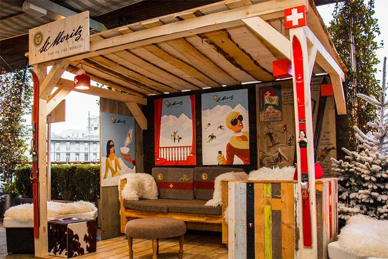 Christmas 2019 Swiss Winter Lounge At Terrazza Palestro