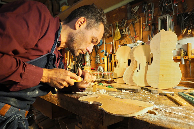 A violin maker in Cremona