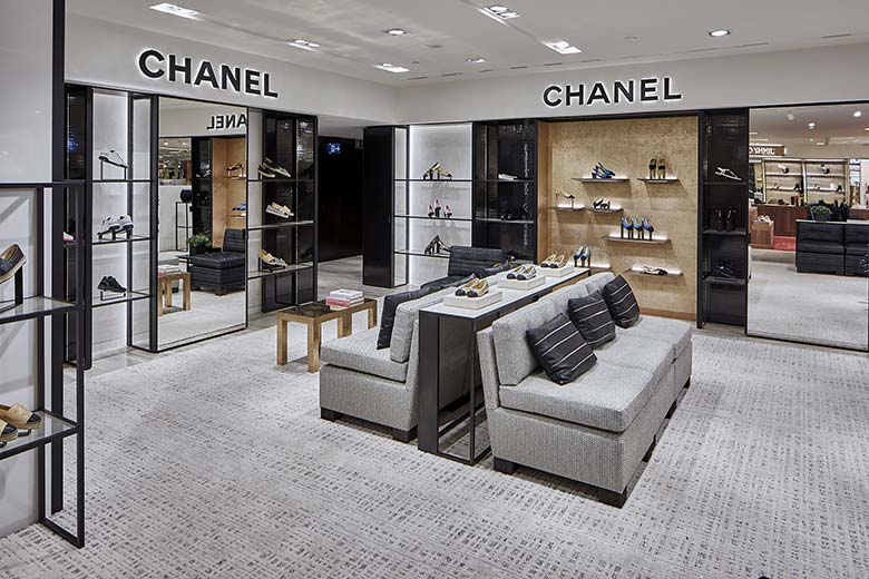 The new Chanel shoe corner at Rinascente