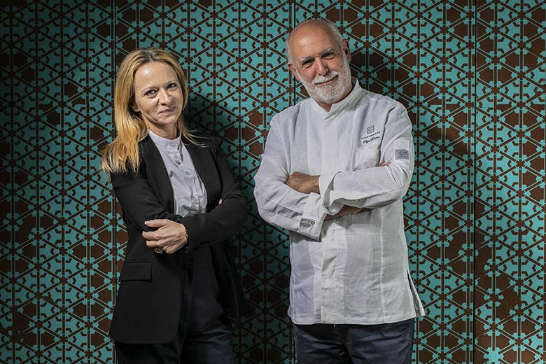 Stefania Lattuca, Manager of Terrammare, and Chef Peppe Barone