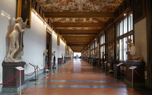 A section of the Uffizi