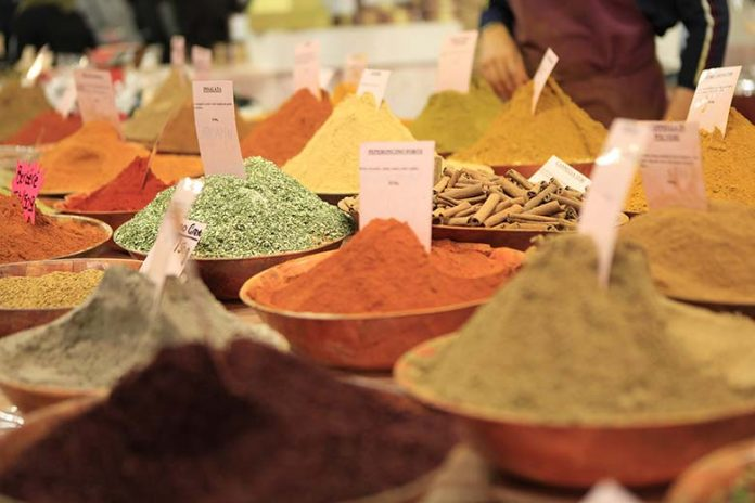 Spices at the Tunisian pavilion at AF. Artigiano in Fiera
