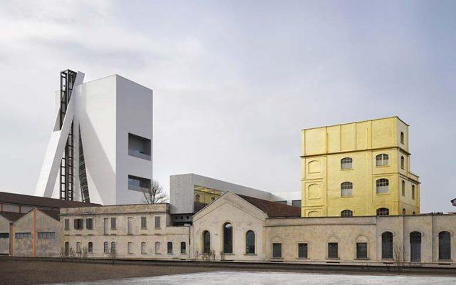 The outside spaces of Fondazione Prada, photo credits Bas Princen