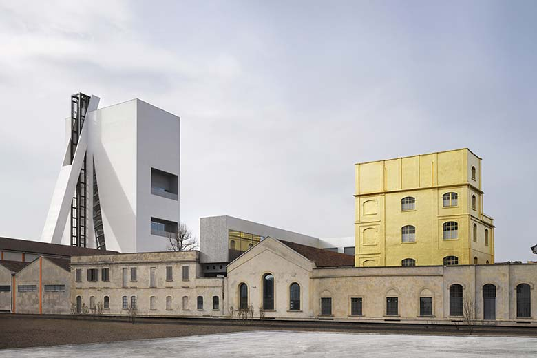 The outside spaces of Fondazione Prada, photo credits Bas Princen