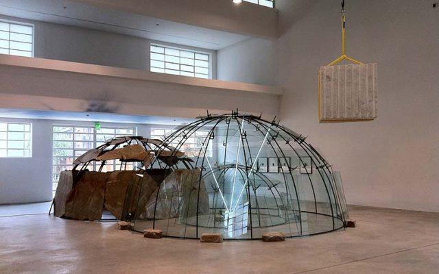 """View of the exhibitio """"Simon Starling. The Inaccessible Poem"""". Courtesy Fondazione Merz"""