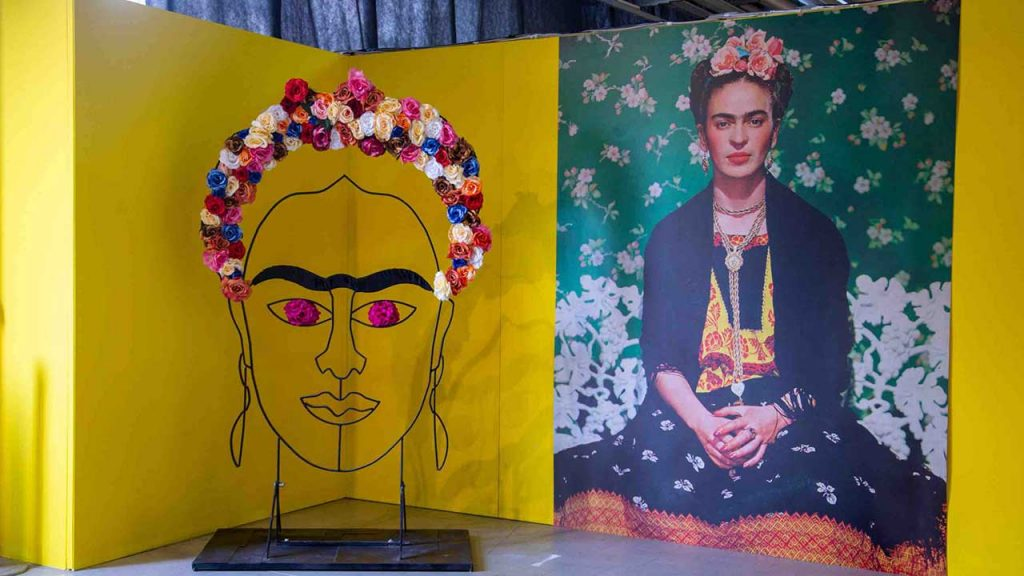 A shot from the exhibition Frida Kahlo, il Caos Dentro